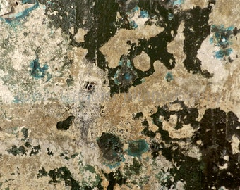 Abstract Art, Industrial Art Print, Abstract Photography, Urban Decay Photo, Teal Giclee Print, Tan Black Green Textured Art, Abstract Print