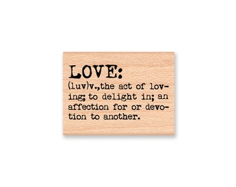 LOVE: DEFINITION-Wood Mounted Rubber Stamp (MCRS 26-27)