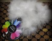 Craft feather boa - white - three feet