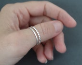 Thumb Rings sterling silver rings stacking rings Beaded Wire Ring hammered ring gifts for her