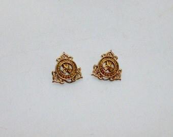 Gold Openwork Clip Earrings