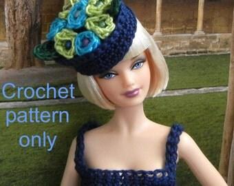 Crochet pattern PDF for Silkstone Barbie doll 1950s autumn