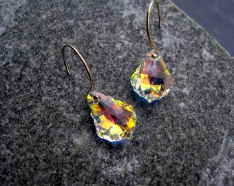 Bridesmaid Earring Sets - Swarovski Crystal Bridesmaid Aurora Borealis Earrings - Gifts - Autumn Wedding - Barn Wedding - Country Wedding