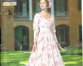 Civil War Day Dress CSewing Pattern Cosplay Reenactment Costume Butterick 5832 Misses Size  6 8 10 12 14  Bust 30.5 31.5 32.5 34 36