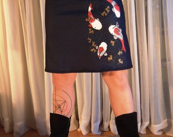 Koi printed skirt - large size choice
