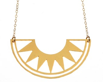 Rising Sun Gold Necklace