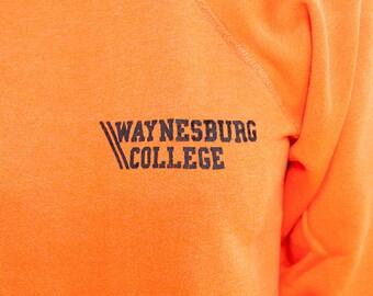 The Vintage Orange Waynesboro 50/50 Crewneck Sweatshirt
