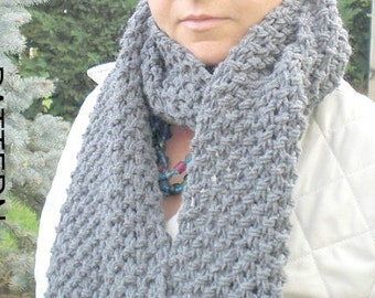 Instant Download Digital Scarf Knitting PATTERN PDF for Beginners Unisex women men by ebruk fall autumn winter accessories - Patterns
