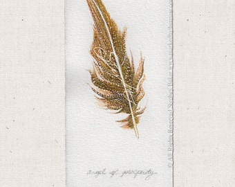 Angel Feather Drawing Angel Of Prosperity