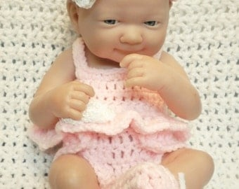 Clothes For 14 Inch Berenguer /LA Newborn/ Reborn  Doll.Pink Baby Doll style Set