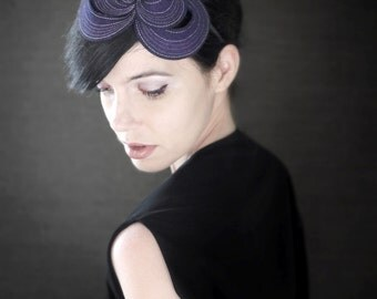 Purple Felt Headband - Helix Series - Made to Order