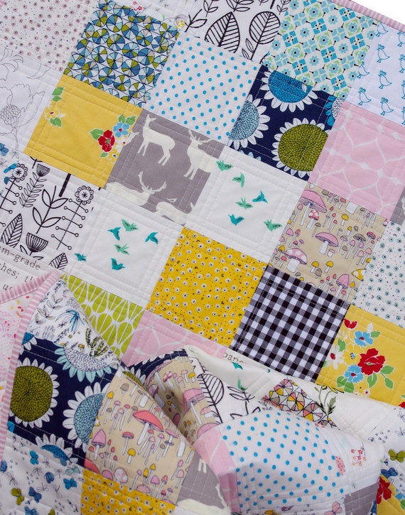 Modern Patchwork Baby and Toddler Quilt