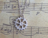 Cog Screw Necklace Sterling Silver