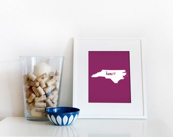 Raleigh is My Home // 8x10 Digital North Carolina Print