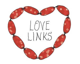 Sausage Temporary Tattoo - Love Links - Foodietoo
