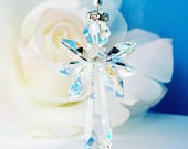 Angel Suncatcher Rear View Mirror Charm Swarovski Crystal Guardian Angel Car Accessories Angel of Protection