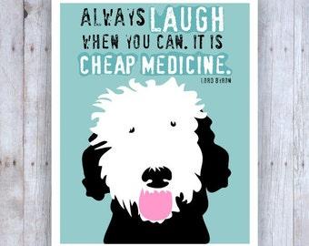 Portuguese Water Dog Art Print Wall Decor Cheap Medicine