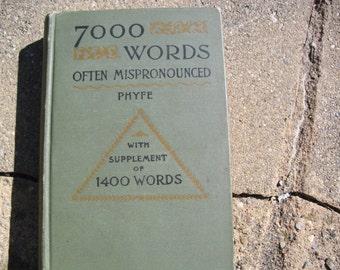 7,000 Words Often Mispronounced