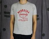 1970 Nebraska Cornhuskers T Shirt - RARE - Small