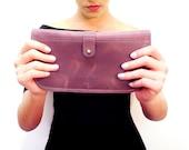 Women Big Wallet /  Women Clutch / Women Leather Purse / women leather clutch / wallet / women purse - gift for a women - Free Shipping