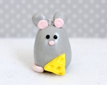Polymer Clay Mouse Christmas Ornament