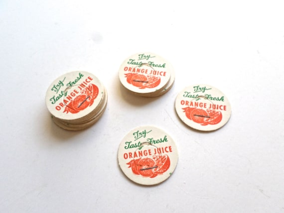 Juice Caps from Vintage Rescue Squad