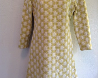 Vintage 1960 Chartreuse MOD, shift dress New Old Stock.  Far out.