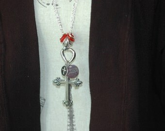 Cross Charm Necklace , Cross Necklace