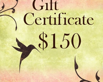 Jasmine Tea Designs, One Hundred Fifty Dollar Gift Certificate