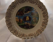 Vintage Alabama State Plate - collector plate - travel souvenir - wall decor