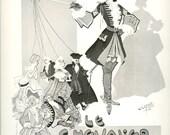 Vintage French Poster Print, Le Chevalier D'Eon, Comic Opera, Cross-Dressing, Theatre De La Porte-Saint-Martin, 1976/1/2