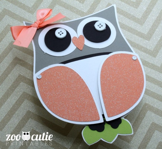 Items Similar To Diy Owl Invitations On Etsy