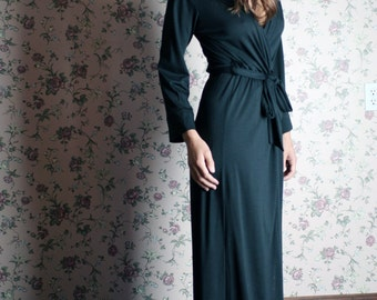 merino wool robe for women in full length - made to order - MERINO II
