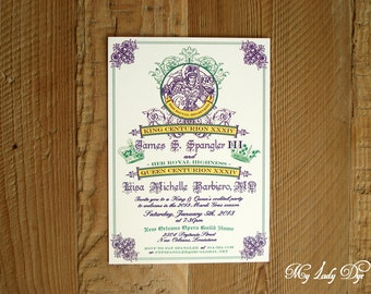 25 Royal King And Queen Cocktail Party Invitations New Orleans Mardi Gras Invitations - By My Lady Dye