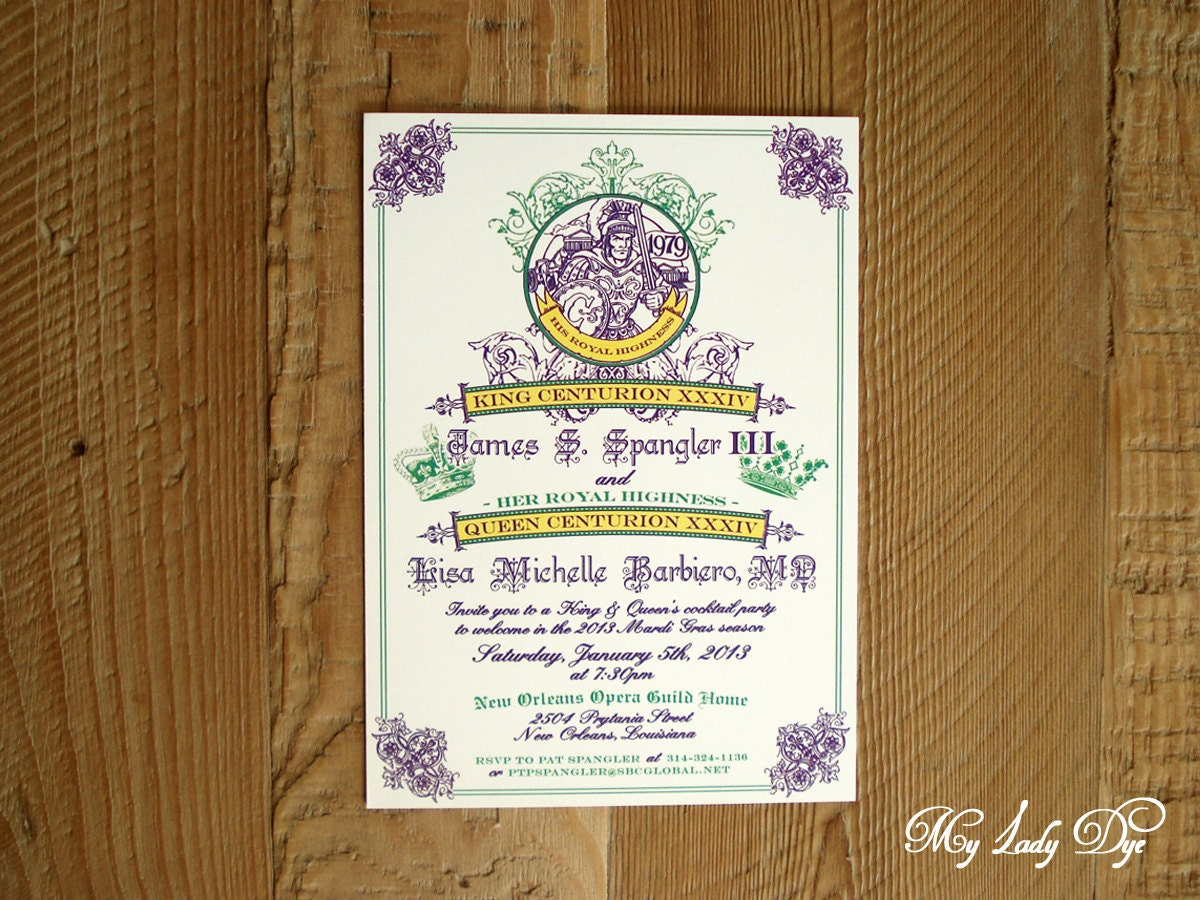 Wedding Invitations New Orleans: 25 Royal King And Queen Cocktail Party Invitations New Orleans