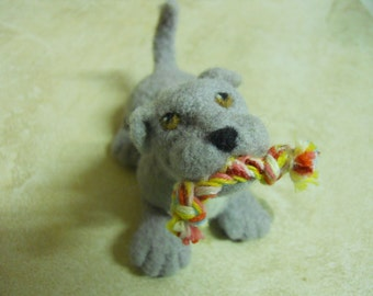Dog Puppy Playful Puppy Needle Felted Wool Dog