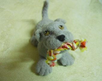 Dog Puppy Playful Puppy Needle Felted Wool Dog