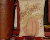Give Thanks Pumpkin Pillow Tuck