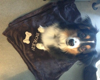 Personalized Pet Blanket and Doggie bag