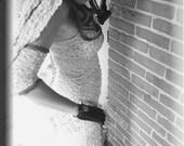 Tank Top - Tunic - Burning Man - Sleeveless Top - Shabby Chic Boho Fashion - Ivory Lace - Sexy Top - Camisole - Size X- Small