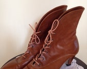 Vintage 80's Leather Booties Size 9