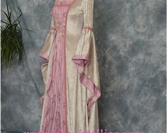 ISABELLA, a Renaissance, Medieval, Pre-Raphaelite  Wedding Gown, LARP or Prom Dress