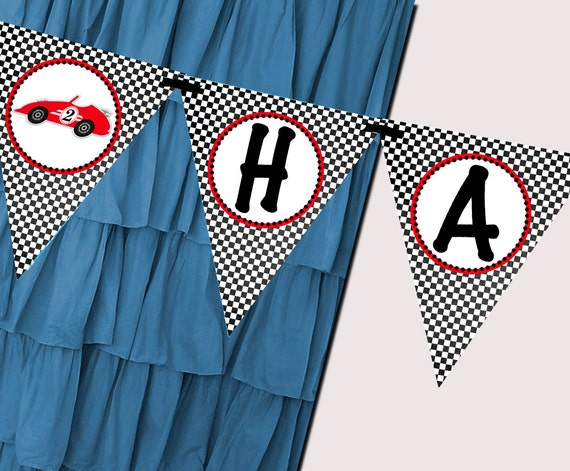 Race Car Banner Party Printable - Stick to Your Story