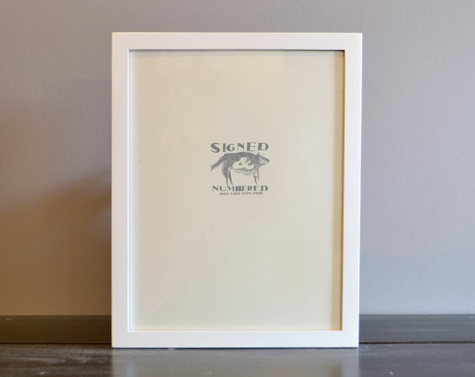 A4 Size Picture Frame in Peewee Style with Solid White Finish - Handmade Modern White Frame 210 x 297 mm - A4 Frame - 8.3 x 11.7 inches