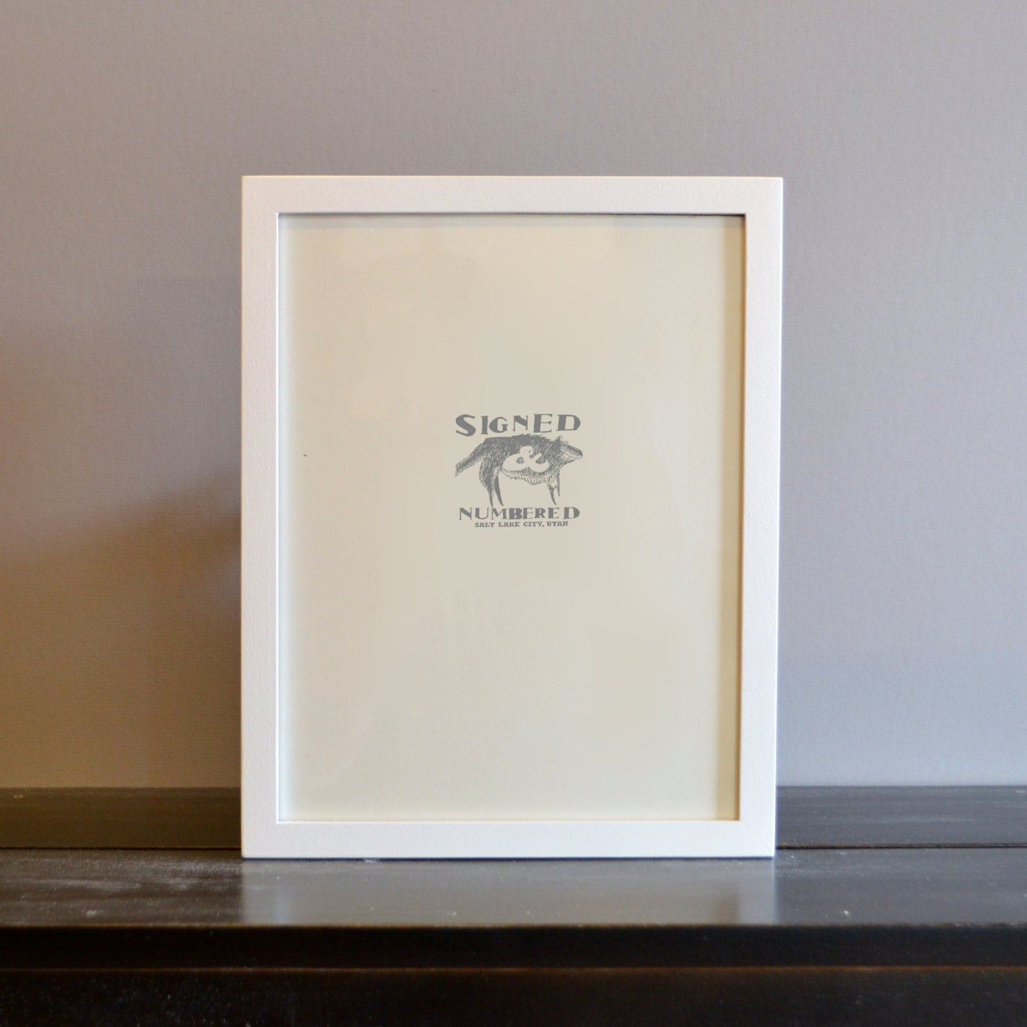 85 x 11 picture frame in peewee style with solid white finish handmade modern white document frame 85x11 gallery frame