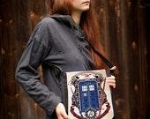 Big messenger bag crest of the knight of fandom / Supernatural, Doctor Who, Sherlock, , Potter, Star Trek, Merlin, Hobbit