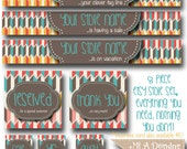Custom Etsy Banner Set - Retro - Cute Simple & Custom! Made to Match Business Cards and Facebook Timeline Covers also available!