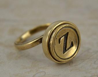 Personalized Typewriter Key Ring