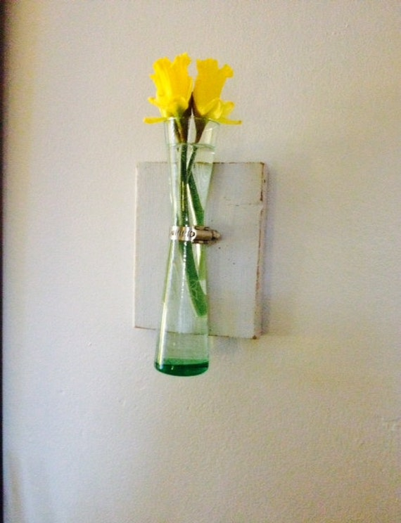 Wall Sconce Plant Holder : Wall Vase Shabby Chic Flower Holder Wall by belou492 on Etsy