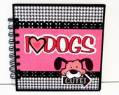 Dog Themed 6x6 Premade Mini Scrapbook Album